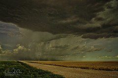 Summer Shower (Chains of Pace) Tags: road storm oklahoma rural unitedstates sony perspective retro prairie panhandle guymon