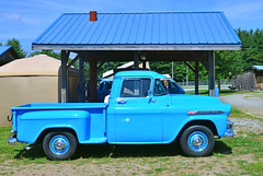 1959 Chevy 31 Apache pickup (Thumpr455) Tags: auto show classic chevrolet car rural truck apache nikon july chevy 31 1959 d800 2014 fletchernc worldcars afnikkor3570mmf28d pickupblue westernnorthcarolinaagcenter mountaineerantiqueautoclub