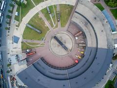 Like Clockwork (Michael Muraz) Tags: world ca city toronto ontario canada building train town downtown cityscape traintracks tracks aerial northamerica aerialphotography roundhouse on drone 2015 phantom3 dji roundhousepark dronephotography