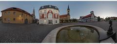 360° Panorama Krengeljäger Worbis (schmilar77) Tags: panorama platz springbrunnen brunnen kirche architektur ort fachwerk objekte allgemein fototechnik tamron1024mmf3545spdiiildaslif