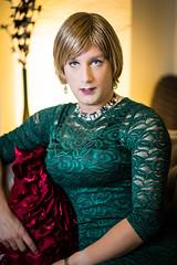 Warm enough (Lauren Close) Tags: lauren trans transgender lace dress