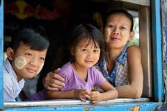 YANGON, MYANMAR (Explore) (ulambert) Tags: yangon myanmar burma family train