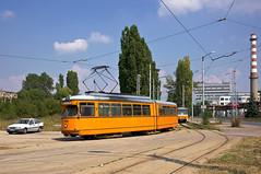 Dwag-Gelenkwagen 4233 auf Einrckfahrt am 'Depo Iskar' (Frederik Buchleitner) Tags: 233 4233 bulgaria bulgarien blgariya depoiskar duewag dwag einrckfahrt gt6 linie22 sechsachser sofia stolitschenelektrotransportag strasenbahn streetcar tram trambahn tramvai        sofiacity blgariya dwag einrckfahrt straenbahn tramvai