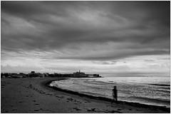 Grado (M Luca) Tags: grado friuli italia italy beach spiaggia sunday domenica clouds nuvole cloudy nuvoloso mare sea adriatic fuji x100 bn bw monocrome