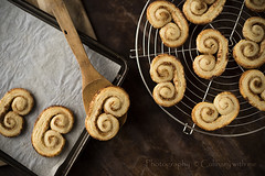 Walnut Palmier Cookies (vanilllaph) Tags: baked bake baling palmier cookie cookies ready tray recipe sweet food culinary horizontal swirl dough eat eating menu biscuit dessert table puff pastry delicious confectionery classic traditional brown golden homemade rack