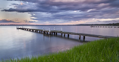 jetty lane (fotowomble) Tags: jetty fotowomble grass water clouds sunset pontoon lead lines canon 7d hdr nd neutral density gradual the entrance australia nsw