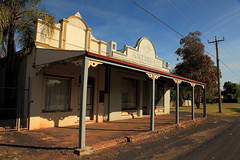 Guerie Antiques (Darren Schiller) Tags: guerie abandoned australia architecture building closed derelict disused decaying deserted empty facade history newsouthwales old rural rustic smalltown shop store verandah