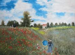 lgemlde, kopiert nach: Claude Monet, Coquelicots (falschemeister) Tags: claudemonet coquelicots mohnblumen impressionismus lbildnachmalenlassen lgemlde