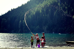Time of my life !! (pankaj.anand) Tags: kids kid water rattlesnake snake rattlesnakelake lake lakes canon60d landscape 2016 seattle washington kidsplaying playingkids beautifulkids