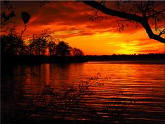Sunset at the Lake Pönitz (Ostseetroll) Tags: deu deutschland geo:lat=5403700030 geo:lon=1070101827 geotagged pönitzamsee scharbeutz schleswigholstein sonnenuntergang sunset pönitzersee wasser spiegelungen water reflections wolken clouds