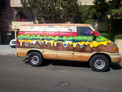 Muckrock Burger Van, Venice Beach, California, USA (gruntzooki) Tags: california cali cal ca usa losangeles la lax vanart burgers muckrock venice beach