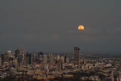 Super moon and the city (noompty) Tags: moon brisbane city cityscape queensland on1pics pentax k1 hddfa70200mmf28eddcaw