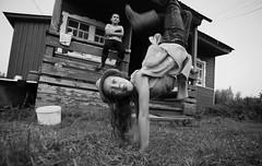 IMG_6864 (Slavik Terebov) Tags: canon6d cosina1935 bw street people snow winter river ice belozersk kids children girl boy village summer