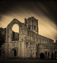 Fountains Abbey (Tom Strawn) Tags: fountains abbey ruins nikon d750 24120f4 ancient long exposure nd filter