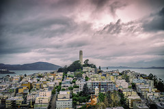 End of Day at Coit Tower (DustinJ05) Tags: leica m typ240 50mm f14 summilux san francisco california coit tower skyline bay buildings overlooking sunset city