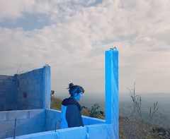 The landscape, Decor,setting,scenery,surroundings, Tuxtla, Chiapas, Mexico,2016 (Benoit.P) Tags: fake 3d nature art decor scenery chiapas tuxtla mexico tipico wild benoitpaille montreal mtl canada print plant trees concrete