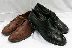 SHOES:  Leather soled men's shoes -- perfect for salsa dancing.