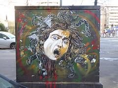 Graff in Paris - C215 (brigraff) Tags: streetart pochoir stencil paris c215 brigraff méduse lecaravage caravaggio