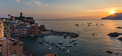 Italian sunset (Adrien Marc) Tags: vernazza liguria italia sunset harbor sea boats italie cinqueterre