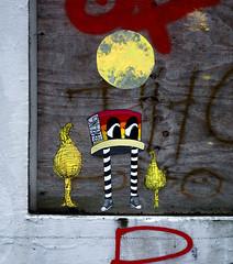 HH-Wheatpaste 3120 (cmdpirx) Tags: hamburg germany reclaim your city urban street art streetart artist kuenstler graffiti aerosol spray can paint piece painting drawing colour color farbe spraydose dose marker stift kreide chalk stencil schablone wall wand nikon d7100 paper pappe paste up pastup pastie wheatepaste wheatpaste pasted glue kleister kleber cement cutout