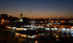 Djemaa el Fna, Marrakech, Morocco (RX Coolpix) Tags: marokko marrakesch sunset evening night dark koutoubia morocco