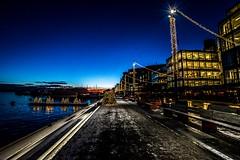 Oslo, Norway (Davide Tarozzi) Tags: oslo norway perspective prospettiva night notte norvegia kongeriketnoreg kongeriketnorge