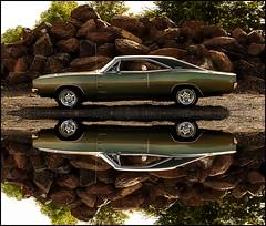 1968 Dodge Charger R/T - Like a Rock (1968 Dodge Charger R/T | Scott Crawford) Tags: 1968 1968charger 1968dodgecharger 1968dodgechargerrt scott scottcrawford musclecar reflection americanmuscle interesting vintage classic vinyltop cragars green roadtrack inlandnorthwest magnum 440 spokane