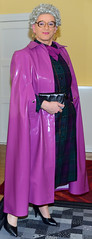 Ingrid023316 (ingrid_bach61) Tags: dress kleid buttonthrough durchgeknöpft pleatedskirt faltenrock mature cape