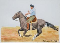 DSC04562_low (RafaelSan) Tags: caballo criollo gaucho uruguay acuarela horse watercolor