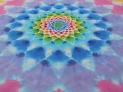 psychedelic mandala shibori tiedye handkerchief (asiadyer) Tags: japan japanese japanetsy mandala mandalatiedye mangekyo magic handkerchief handmade hanky handdyed hankerchief hand hankie psychedelic psychedelica cotton procion symmetry etsy shibori textile fiber fibonacci