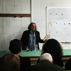 Tom Pickard reading at Leicester Print Workshop (Dradny) Tags: poetry leicester leicesterprintworkshop literaryleicester poets poet tompickard