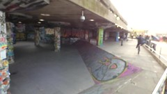The South Bank, London - Queen Elizabeth Hall - Undercroft graffiti - HD video clip (ell brown) Tags: southbank lambeth londonboroughoflambeth londonboroughofsouthwark bankside london greaterlondon england unitedkingdom greatbritain southbankcentre queenelizabethhall theundercroft graffiti streetart skateboarders cyclists undercroft bmxers brutal concrete graffitiartists video videoclip hdvideo hdvideoclip