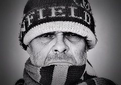 "Winter ! (CJS*64 ""Man with a camera"") Tags: cold winter hat scarf freeze ice snow wet cjs64 craigsunter cjs nikon nikkorlens nikkor nikond7000 50mmf18lens 50mmnikkorlens 50mmf18d 50mmlens blackwhite bw blackandwhite whiteblack whiteandblack mono monochrome"