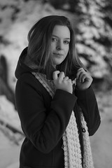 dressed in black (VeeePhotoJourney) Tags: select black white old style beauty woman girl women ragazza portrait natural long hair spontaneous italy alto adige photography nikon d7100