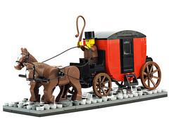 Horse Coach (Carriage) (de-marco) Tags: lego medieval pirates coash horse latlug latvija latvia