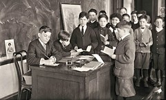 School with straight pens and ink wells ca1916 loc05377u (SSAVE w/ over 6.5 MILLION views THX) Tags: boys schoolboys inkwell straightinkpen 1915