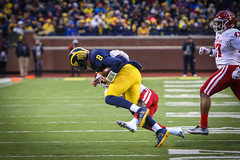 IMG_8382 (samiistoloff) Tags: football michigan michiganfootball maize umich emotion jimharbuagh jumpman uofmich theteam ncaa nike bigten bigtennetwork btn btnxtakeover blue harbuagh celebration wolverines class project aptop25 rain jordan photographer si110 sports likes photos white red photo indiana hoosiers jakebutt snow