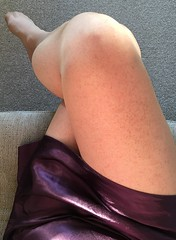 Sexy breakfast (TVNicola & Mistress) Tags: mistress tv sissy natural nylons stockings slip satin