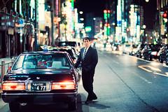 Ginza King (Jon Siegel) Tags: nikon nikkor d810 85mm 14 nikon85mmf14 man driver taxi suit pro professional bokeh night evening ginza tokyo japan japanese street candid people urban city