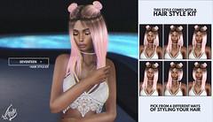 Seventeen @ Hairology (liza.broono) Tags: sl second life foxy fashion event hairology bun buns mesh hair seventeen fitted catwa ison bold beauty letre slink