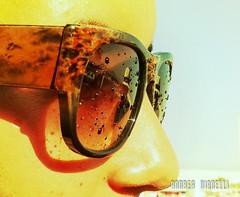 Le goccioline (AndreaTigerVianelli) Tags: gocce goccioline tramonto occhiali lenti ancqua acqua sun sunglasses sole cala gonone sradegna sardegna summer estate mare light viso faccia naso foto photo capture nikon d5100 iphone4 apple cellulare smartphone