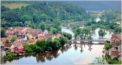 Bridges on Naab in Kallmuenz (be there...) Tags: bridge water river bayern bavaria flood jura bayerischer naab 2013 kallmuenz
