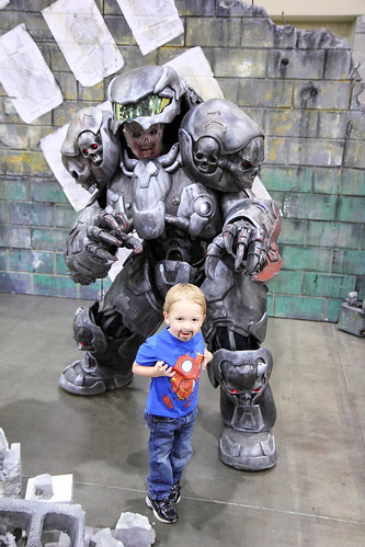 Cute Kid and Zombie Space Marine!2013 Phoenix Comicon (PCC)