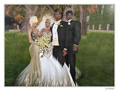 9 Wedding Group (curl.swindlehurst) Tags: wedding party groom bride couple formal ceremony celebration rings secondlife gown bridal weddingphotos