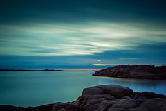 Blues Of Saltholmen (Mabry Campbell) Tags: longexposure blue sunset sea seascape water gteborg photography evening coast harbor photo rocks europe photographer image fav50 sweden gothenburg may fav20 boulders coastal photograph le 100 sverige 24mm scandinavia fav30 f71 saltwater archipelago goteborg tiltshift vstragtaland saltholmen fav10 2013 fav40 fav60 fav70 tse24mmf35l iceam mabrycampbell may202013 201305200h6a2219 3580sec