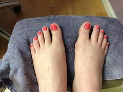 New pedicure (Fanta_Productions) Tags: feet toes barefoot footfetish pedicures pinktoenails uploaded:by=flickrmobile flickriosapp:filter=nofilter