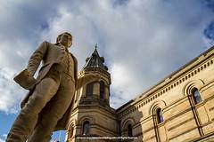Bard of Ayrshire |  (francisling) Tags: robert statue zeiss 35mm t university sony south scottish australia cybershot burns poet adelaide sonnar   lyricist   rx1     dscrx1