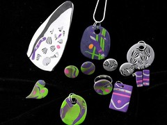 Pendants & Earrings in Polymer Clay - 29 June 13 (ArtisOn Masham) Tags: jewellery polymerclay fimo workshops masham artison craftworkshops janeburnley