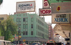 Nuevo Laredo, Mexico (Tejas Cowboy) Tags: city trip signs building architecture mexico tourist billboard 1993 business seeing sight laredo 1990s nuevo 90s