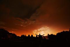 The Power of Nature (NDSUG0GR33N) Tags: sky orange cloud storm rain silhouette hail yellow night clouds dark outside backyard power stormy citylights thunderstorm lightning marvel storms raining tornado wrath thunder stormclouds lightningstrike lightningrod storming hailing